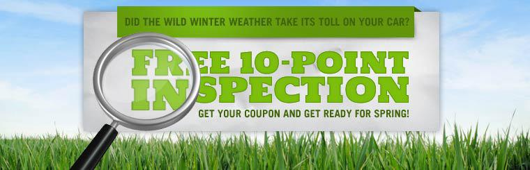 Get a free 10-point inspection! Click here to print the coupon.