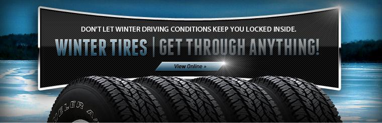 Don't Let Winter Driving Conditions Keep You Locked Inside. Buy Your Winter Tires Today.