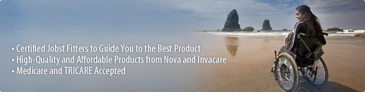 Allied Medical features certified Jobst fitters to guide you to the best product. We offer high-quality and affordable products from Nova and Invacare, and we accept Medicare and Tri-Care.
