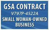GSA Contract V797P-4522a. Small Woman Owned Business.