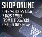Shop Online from the comfort of your own home.