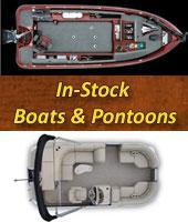 In Stock Boats and Pontoons from Ranger, Lund, Xcursion, and Weeres