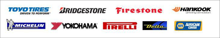 We carry products from Toyo, Bridgestone, Firestone, Hankook, Delta, Michelin®, Yokohama, Pirelli and Napa.