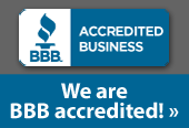 We are BBB accredited!