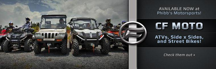 Click here to check out our selection of CF MOTO ATVs, side x sides, and street bikes!