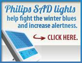 Philips SAD lights help fight the winter blues and increase alertness. Click here for more information.