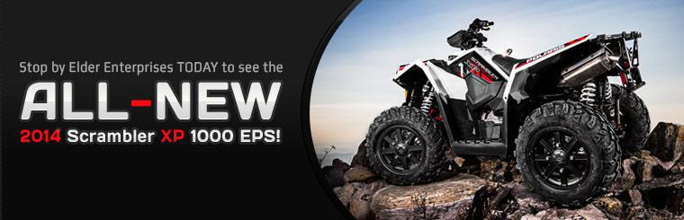 Stop by Elder Enterprises today to see the all-new 2014 Polaris Scrambler XP 1000 EPS!