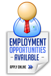 Employment opportunities available: Apply Online >>