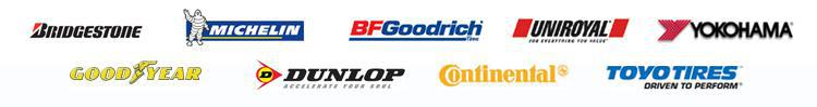 We carry products from Bridgestone, Michelin®, BFGoodrich®, Uniroyal®, Yokohama, Goodyear, Dunlop, Continental, and Toyo.