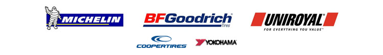 We carry products from Michelin®, BFGoodrich®, Uniroyal®, Cooper, and Yokohama.