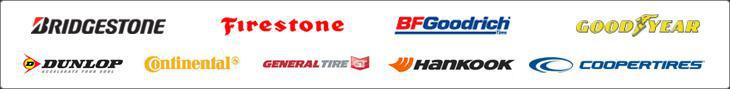 We carry products by Bridgestone, Firestone, BFGoodrich®, Goodyear, Dunlop, Continental, General Tire, Hankook, and Cooper Tire.