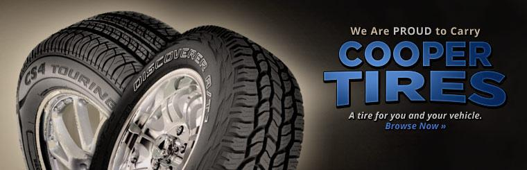 We are proud to carry Cooper tires. Click here to browse.