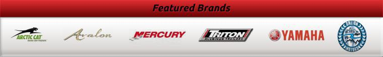 We carry products from Arctic Cat, Avalon, Mercury, Triton, Yamaha, and Oreion Motors.