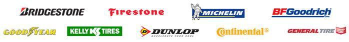 We offer products from Bridgestone, Firestone, Michelin®, BFGoodrich®, Goodyear, Kelly, Dunlop, Continental, and General.