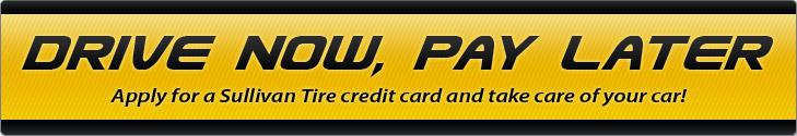 Apply for a Sullivan Tire credit card and take care of your car!