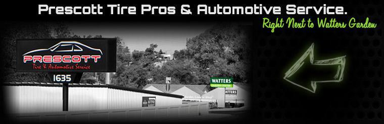 Prescott Tire Pros & Automotive Service is right next to Watters Garden!
