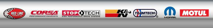 We proudly carry Red Line Synthetic Oils, Corsa Performance, StopTech, K&N, Teamtech, Mopar, and Motul!