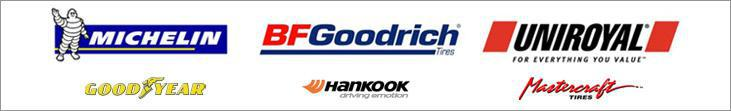 We proudly carry products from Michelin®, BFGoodrich®, Uniroyal®, Goodyear, Hankook, and Mastercraft.