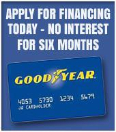 Apply for financing today. No interest for six months.