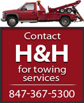 Contact H & H for towing services 847-367-5300.