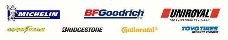 We proudly offer products from: Michelin®, BFGoodrich®, Uniroyal®, Goodyear, Bridgestone, Continental, and Toyo.