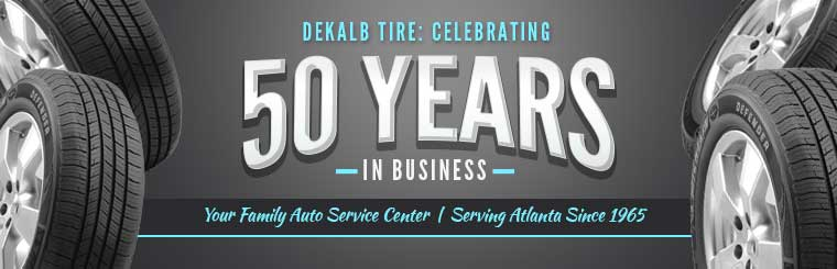 Dekalb Tire is celebrating 50 years in business!