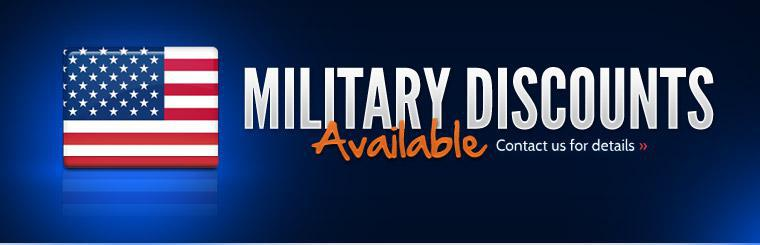 Military discounts are available! Contact us for details.