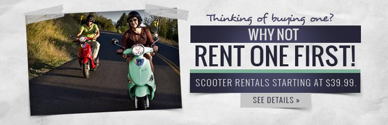 Scooter rentals start at $39.99. Click here for more details.