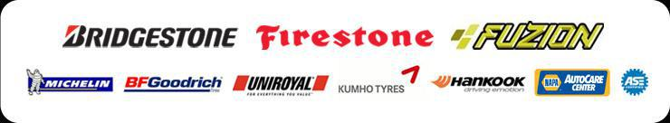We proudly carry products by Bridgestone, Firestone, Fuzion, Michelin®, BFGoodrich®, Uniroyal®,  Kumho, and Hankook. Our technicians are Napa Auto Care Center and ASE certified.