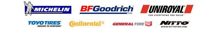 We carry products from Michelin®, BFGoodrich®, Uniroyal®, Continental, General Tire, Toyo, and Nitto.