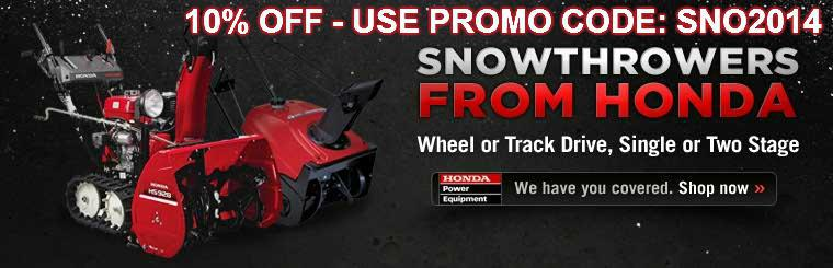 Click here to view Honda snowthrowers.