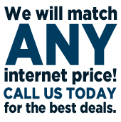 We will match any internet price!