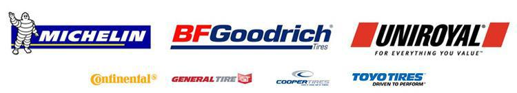 We carry products from Michelin®, BFGoodrich®, Uniroyal®,  Continental, General, Cooper, and Toyo.