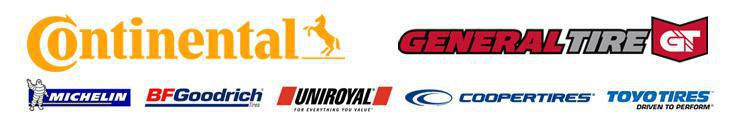 We carry products from Continental, General, Michelin®, BFGoodrich®, Uniroyal®,   Cooper, and Toyo.
