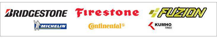 We carry products by Bridgestone, Firestone, Fuzion, Michelin®, Continental, and Kumho.