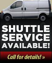 Shuttle service available. Call for details.