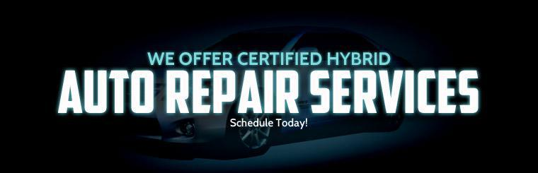 We offer certified hybrid auto repair services. Schedule your appointment today!
