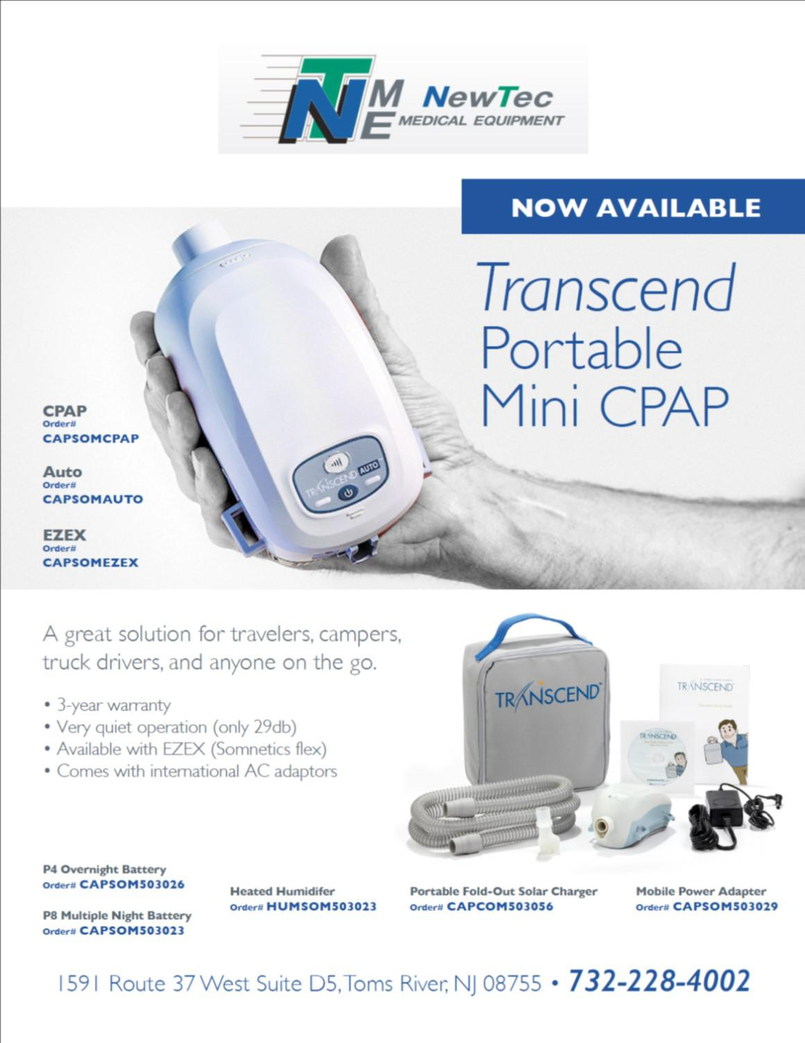 transcend CPAP New Jersey and Pennsylvania