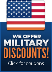 We offer military discounts! Click for coupons.
