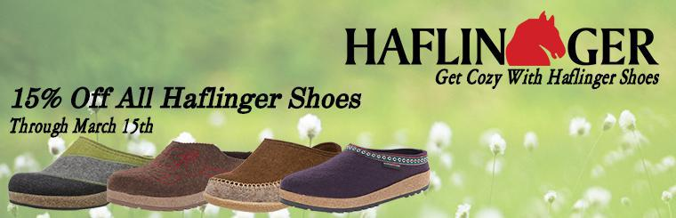 Haflinger Shoes 15% off until March 15th