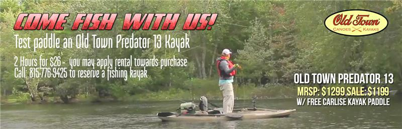 Come Fish with Us! Test Paddle an Old Town Predator