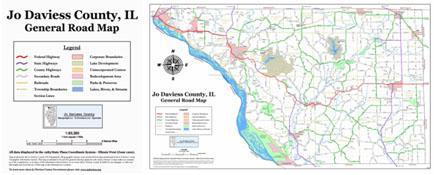 Jo Daviess Country General Road Map