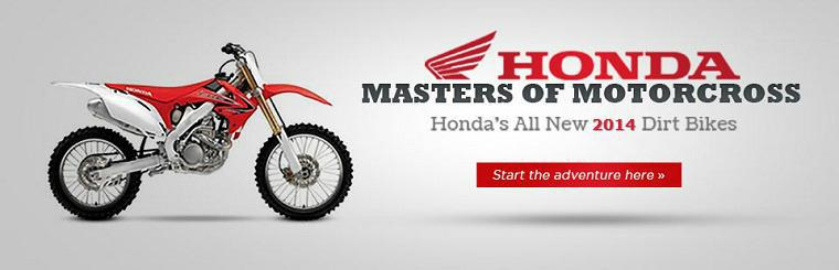 2014 Honda Dirt Bike Lineup