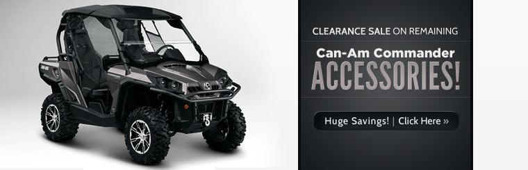 Clearance Sale on Remaining Can-Am Commander Accessories: Click here for huge savings!