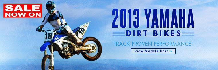 Click here to view the 2013 Yamaha dirt bikes.