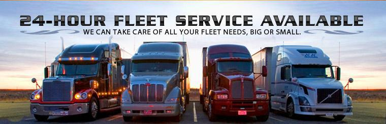 24-hour fleet service is available! We can take care of all your fleet needs, big or small.
