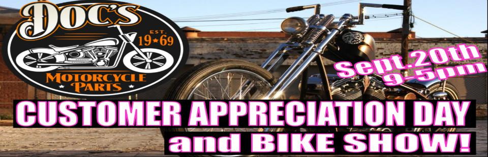 Customer Appreciation Day and Bike Show at Doc's!