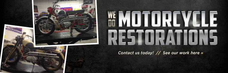 We do motorcyclerRestorations. Conact us today! See our work here.