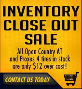 Inventory Close Out Sale!
