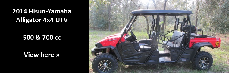New Hisun-Yamaha Alligator 4x4 UTV